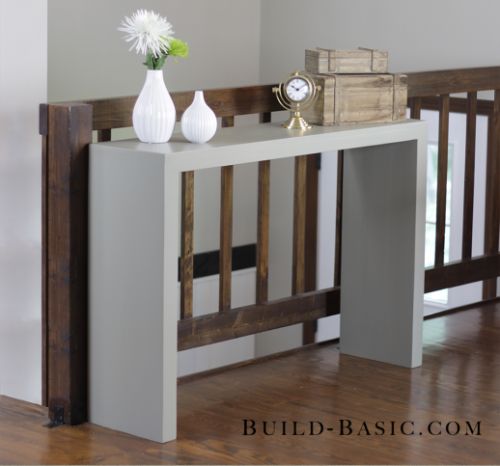 Minimalist Diy Console Table Of Wood Shelterness Diy Sofa Table Modern Console Tables Diy Console Table