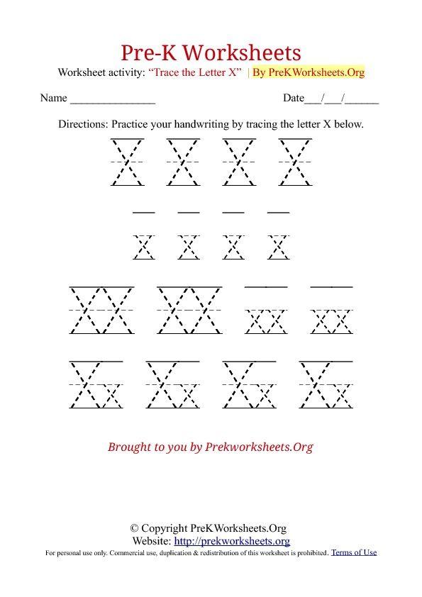 Pre K Tracing Worksheet X Pre K Worksheets Preschool Worksheets Worksheets