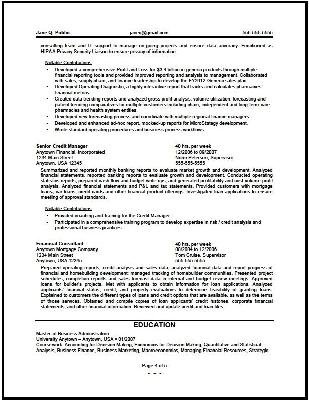 Credit Risk Analyst Sample Resume Awesome Retired Military Resume