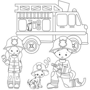 Firefighter Coloring Pages Color Cute Firemen Fire Trucks Coloring Pages Summer Coloring Pages Truck Coloring Pages
