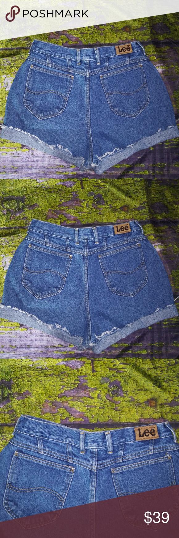 Lee 31 High Waist Medium Wash Vtg Shorts