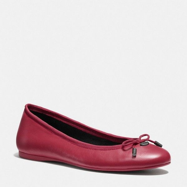 bc4e46a3074 greece coach chelsea patent flats 8 d016f cdfcf  switzerland coach lara flat  1485 mxn liked on polyvore featuring shoes flats black cherry black skimmer