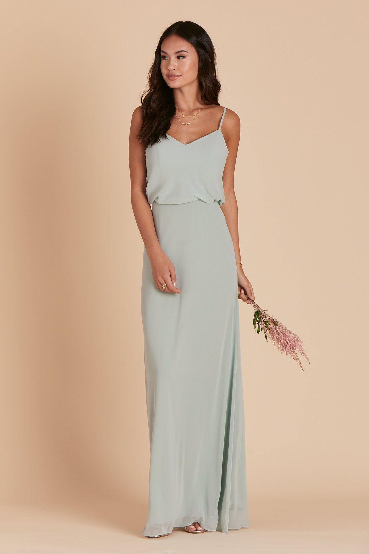 778cf85845a Sage green thin strap maxi wrap dress with slit 1060