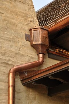 I Love Exterior Copper Trim Gutters Light Fixtures Roofing It Lasts Forever Gets More Beautiful As It Ages Aq Tin Roof House Gutters Copper Crafts