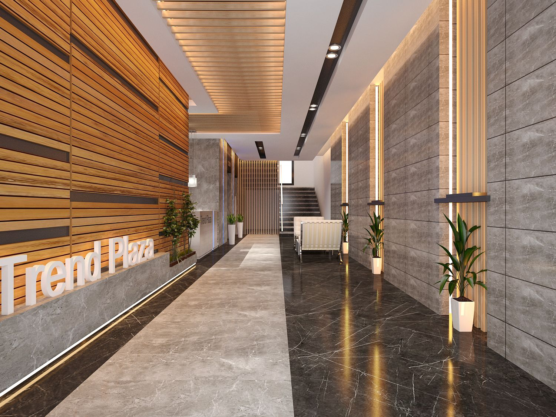 Ofis lobi tasar m office lobby design office entrance for Office entrance design