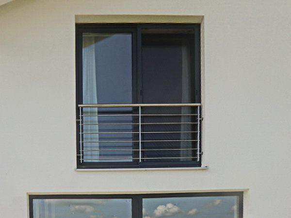 Brüstungsgeländer Aus Glas franz. balkon aus v2a edelstahl | brüstungsgeländer | pinterest