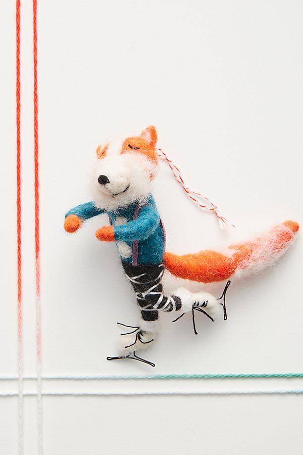 Figure Skating Fox Ornament Fox ornaments, Christmas