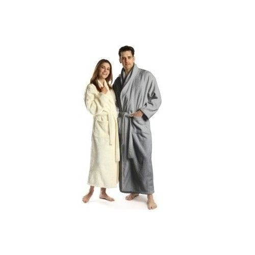 EXTRA LARGE TALL MEN S BATHROBE COTTON TURKISH TERRY XL BATH ROBE LONG  STEEL  turkishtowels  Robes 88c47e08c