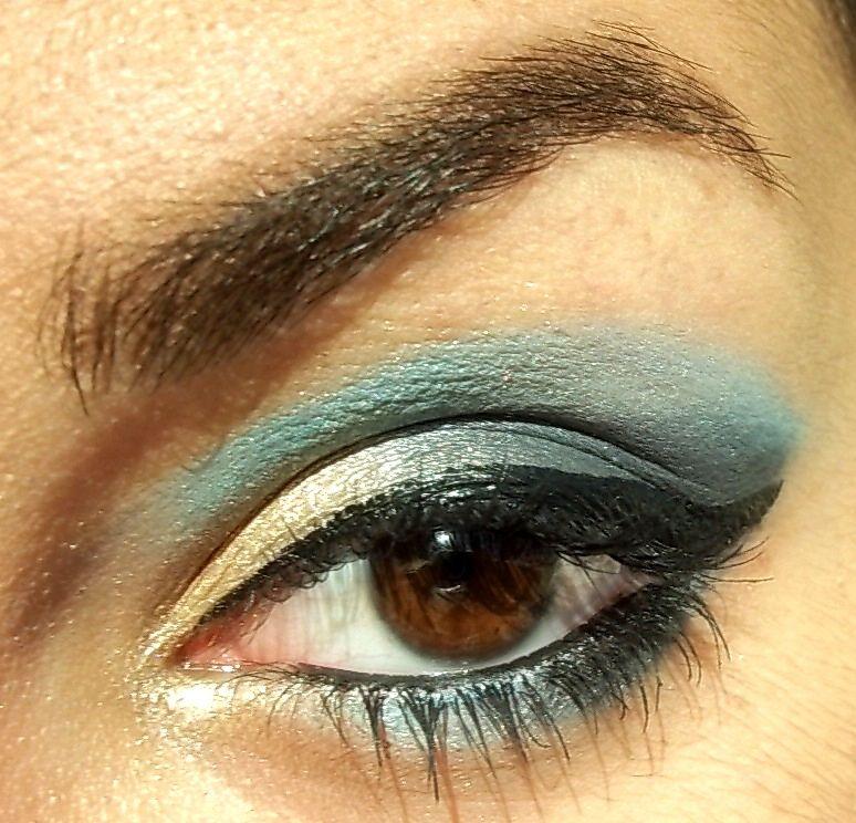 make up oro e blu