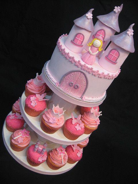 Surprising Princess Cupcake Tower With Images Cupcake Cakes Princess Funny Birthday Cards Online Inifodamsfinfo