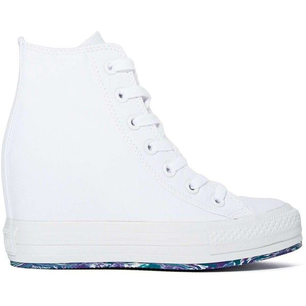 4784b39f85c Converse All Star High-Top Platform Sneaker - White found on Polyvore