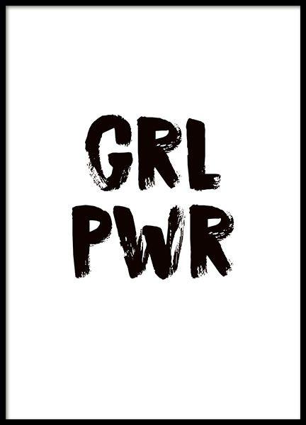 Girl power Affiche dans le groupe Affiches / Formats / 30x40cm chez Desenio AB (8835)