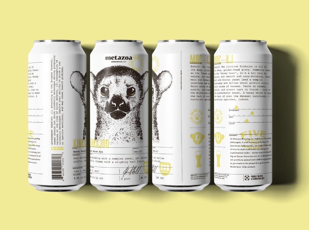 Metazoa Brewing Co With Images Creative Packaging Design