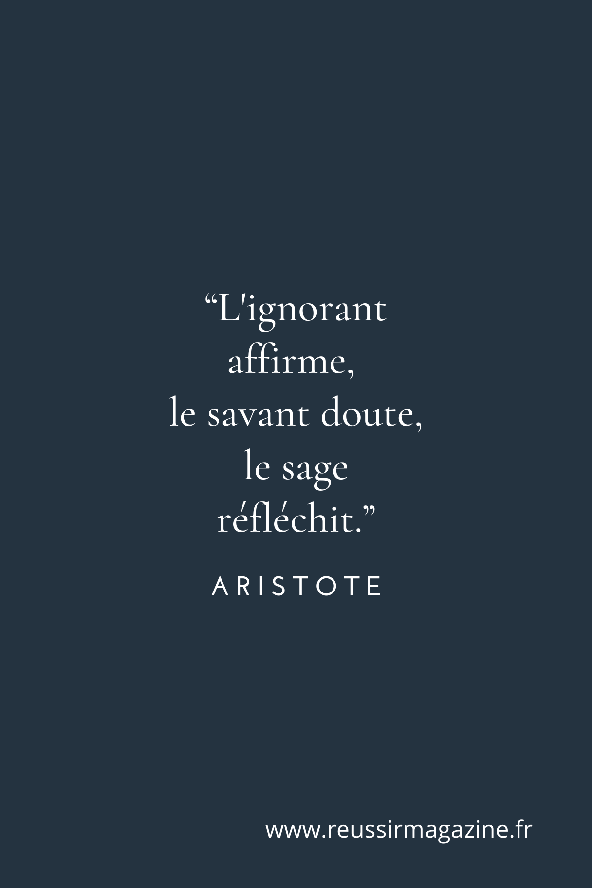 L'ignorant Affirme Le Savant Doute Le Sage Réfléchit : l'ignorant, affirme, savant, doute, réfléchit, Profil, Réussir, Magazine, (reussirmagazine), Pinterest