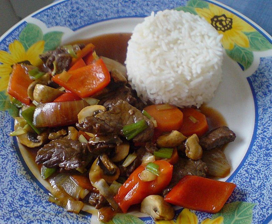 Chop Suey mit dunkler Soße, ein beliebtes Rezept aus der Kategorie Rind. Bewertungen: 13. Durchschnitt: Ø 4,2.