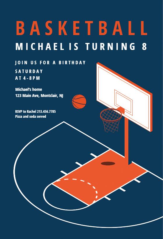Modern Basketball sports & games Invitation Template