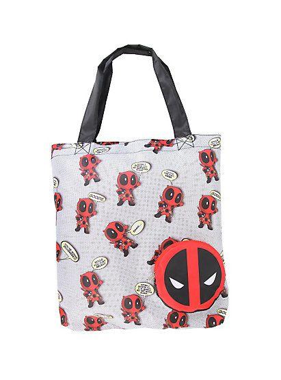 Marvel Deadpool Chibi Print Packable ToteMarvel Deadpool Chibi Print Packable Tote,