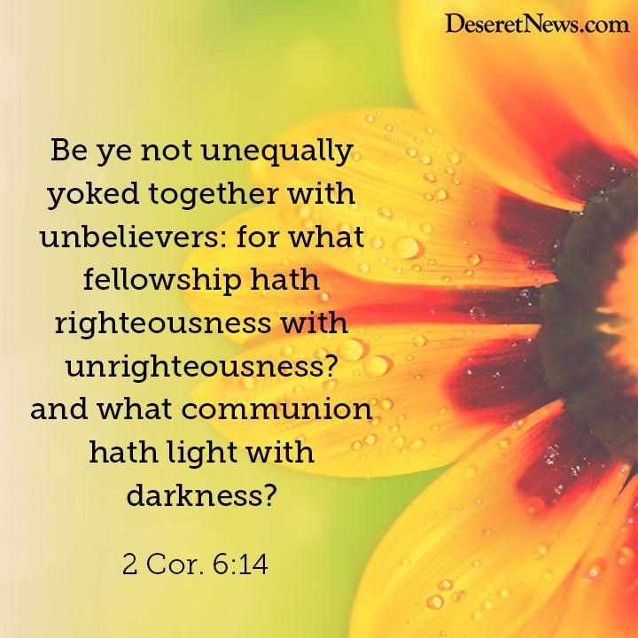Image result for 2 Corinthians 6:14 kjv