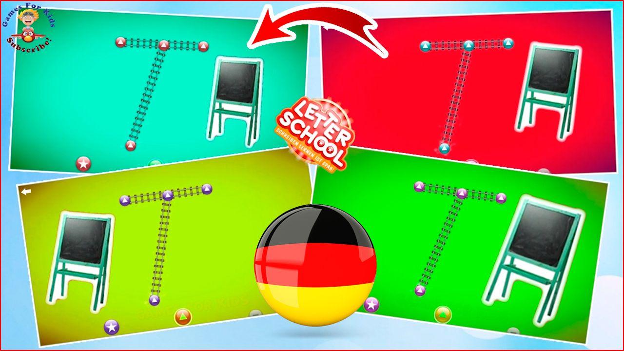 letterschool abc  schreiben sie die buchstaben in deutsch