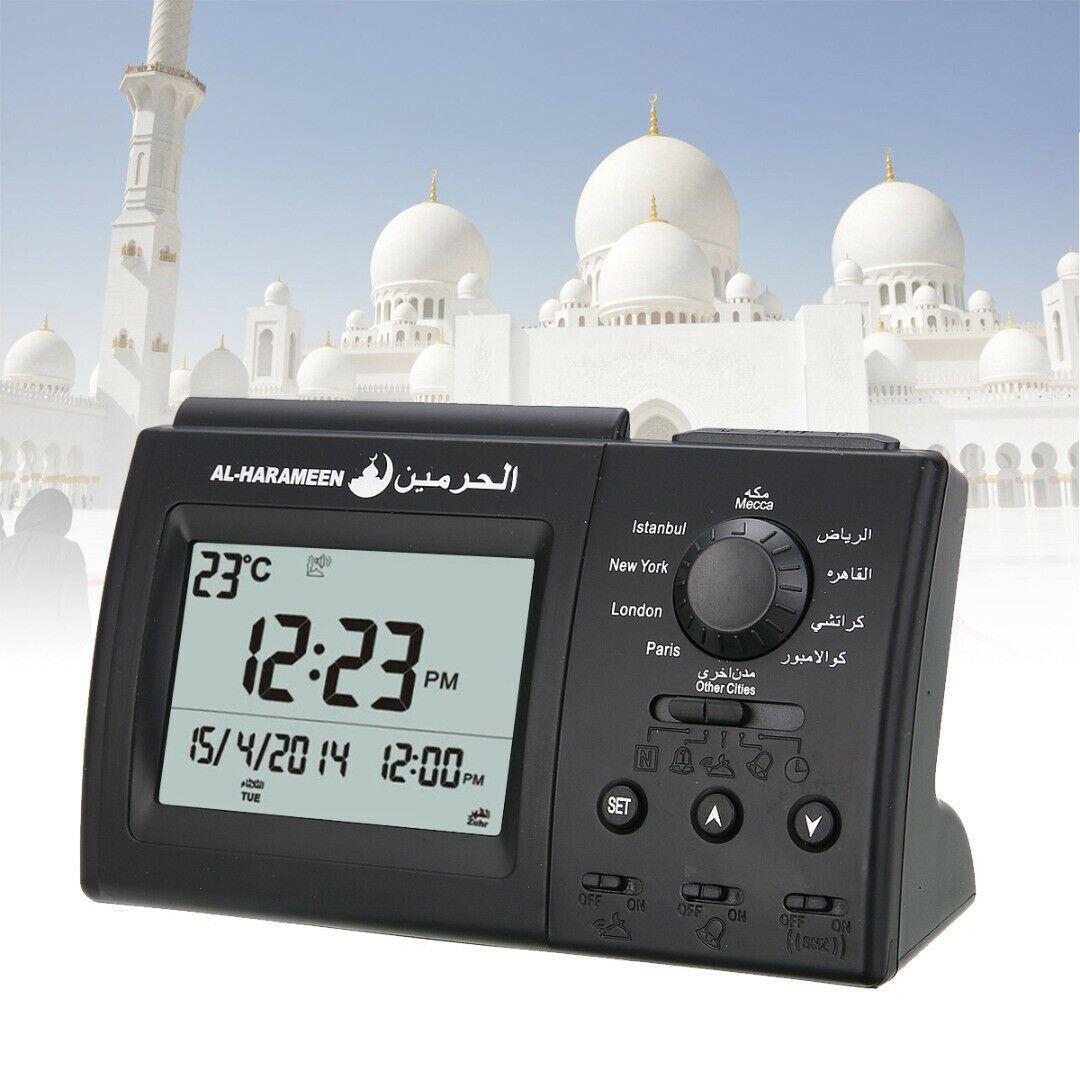 Azan Adhan Clock Islamic Muslim Prayer Mosque Digital Clock Desktop Home Decor Clock Ideas Of Clock Clock Azan Muslim Prayer Islamic Azan Table Clock