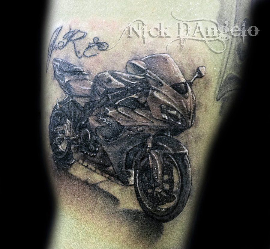 3d motorcycle tattoo by nickdangelotattoos on deviantart tatted up pinterest motorcycle. Black Bedroom Furniture Sets. Home Design Ideas