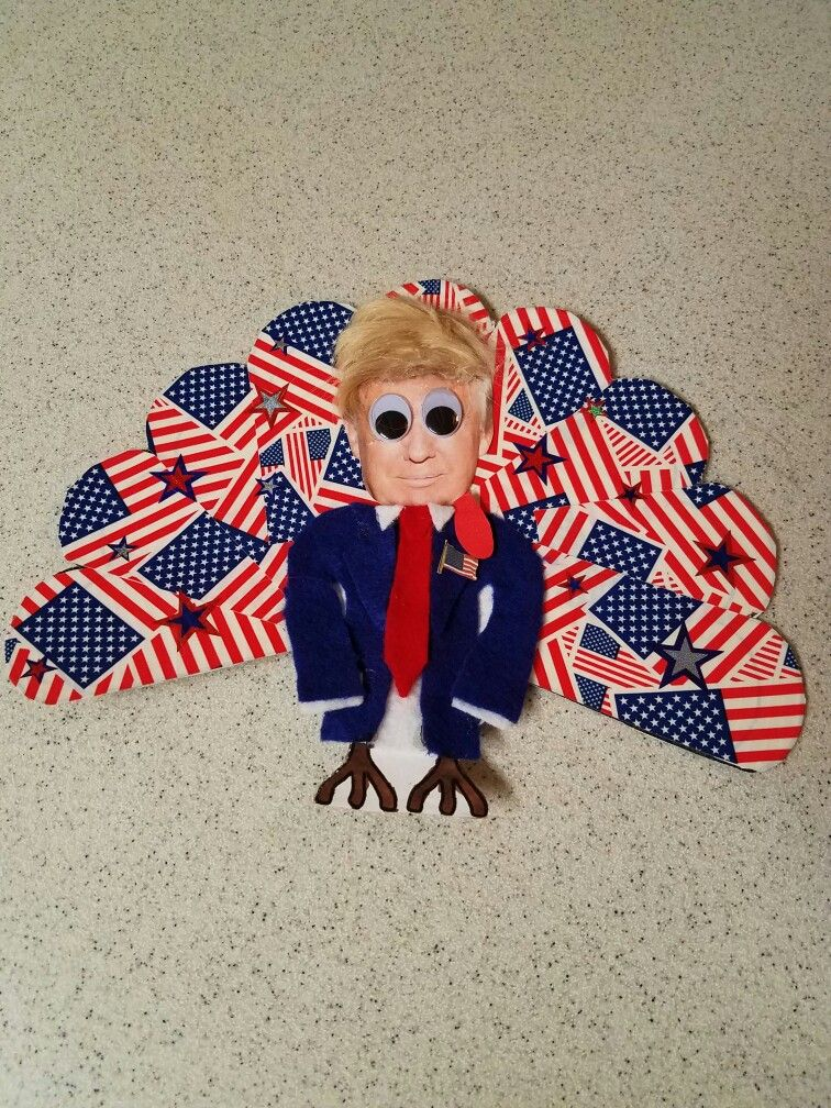 Disguise a Turkey 2016 Donald Trump Second Grade Project #disguiseaturkey