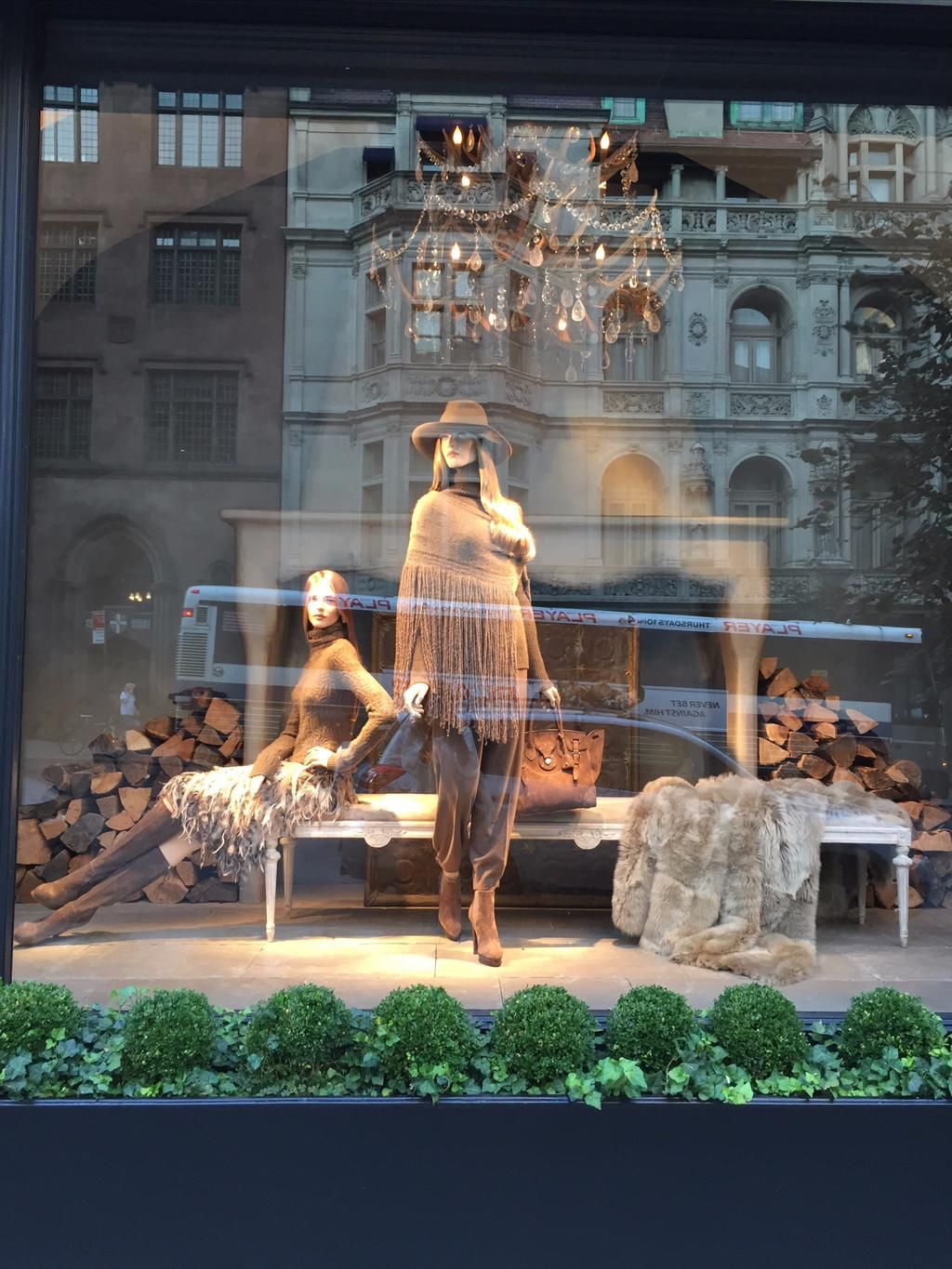 """RALPH LAUREN,Madison Ave.  New York, """"Staring Longingly"""", (Fall Fashion), pinned by Ton van der Veer"""