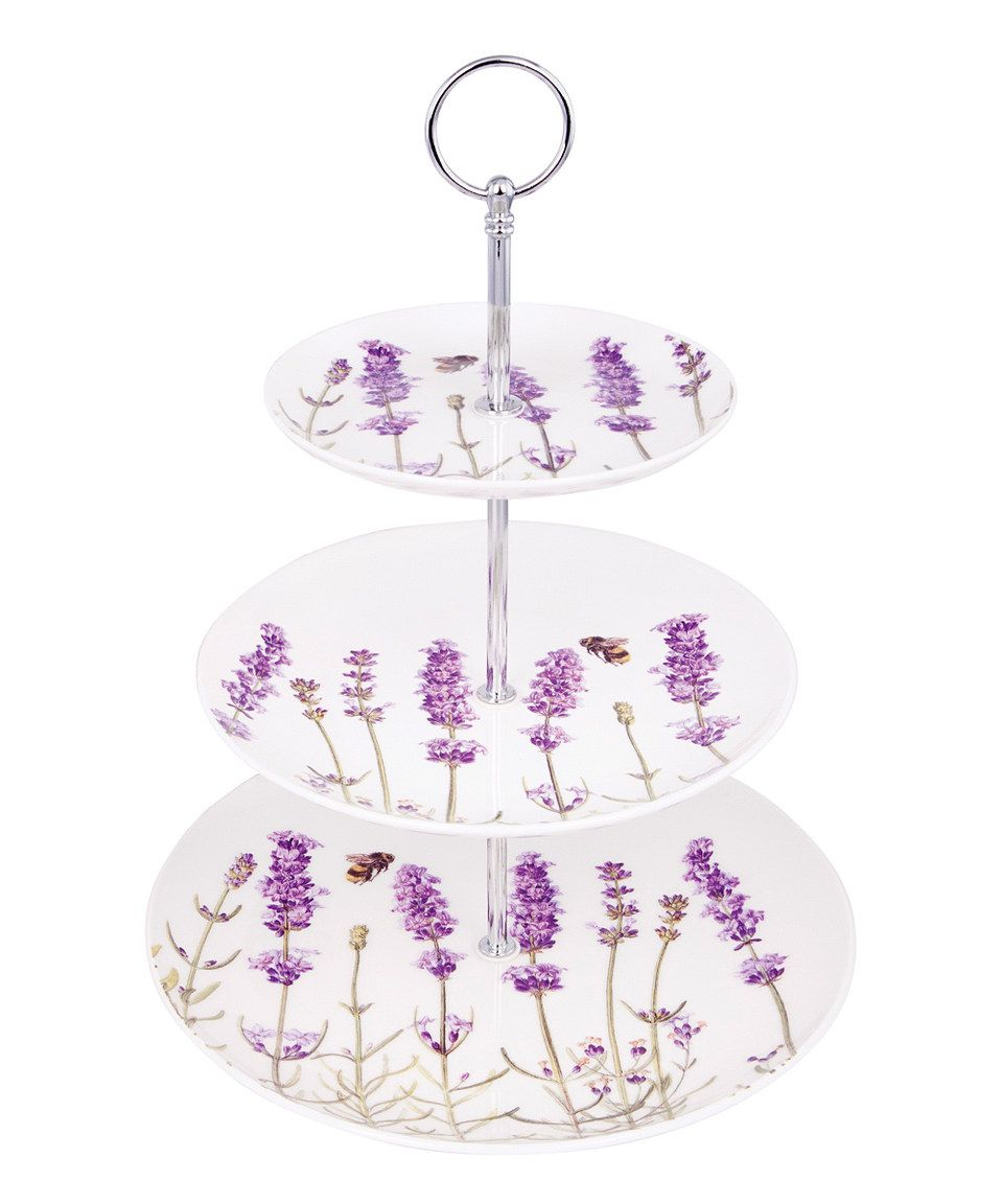 Love this lavender threetier cake stand by ashdene on