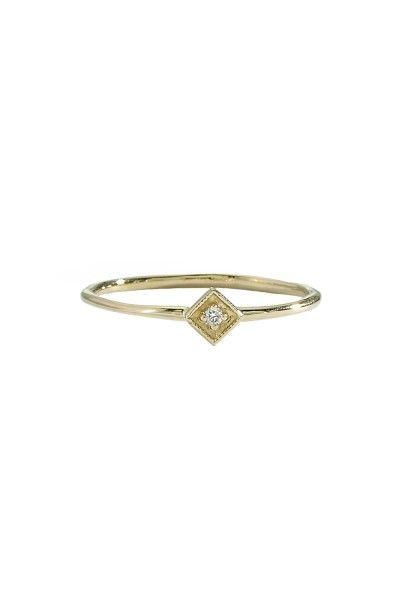 Blanca Monros Gomez | Square Filigree Ring
