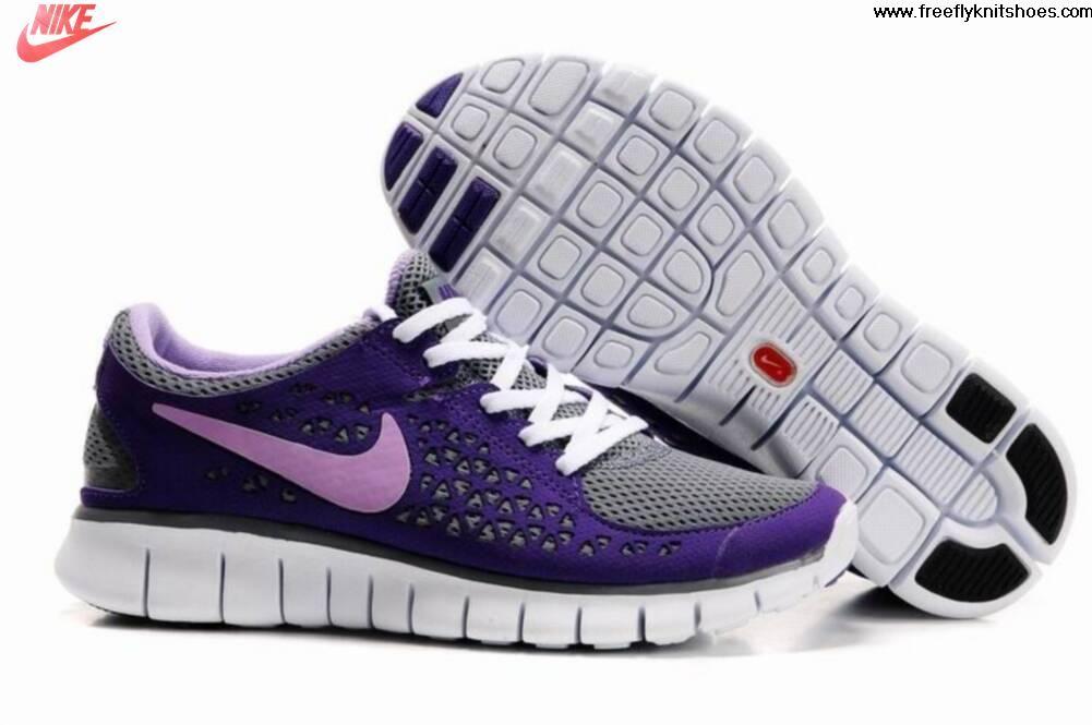 ... new womens nike free run grey purple shoes fashion shoes store ...