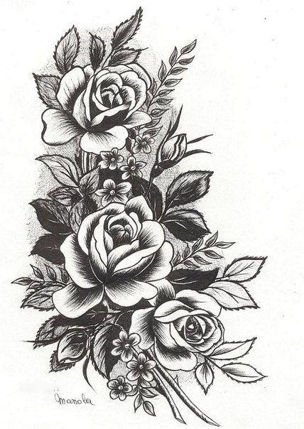 Банк Эскизов バラ tattoos tattoo designs flower tattoos
