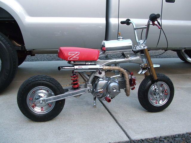 My Bikes Z50x Dragster 88cc Race Head Motor G Craft Alloy Tank Minigunz Exhaust Nsr Swingarm Shock G Craft Wheel Mini Bike Bike Motorised Bike
