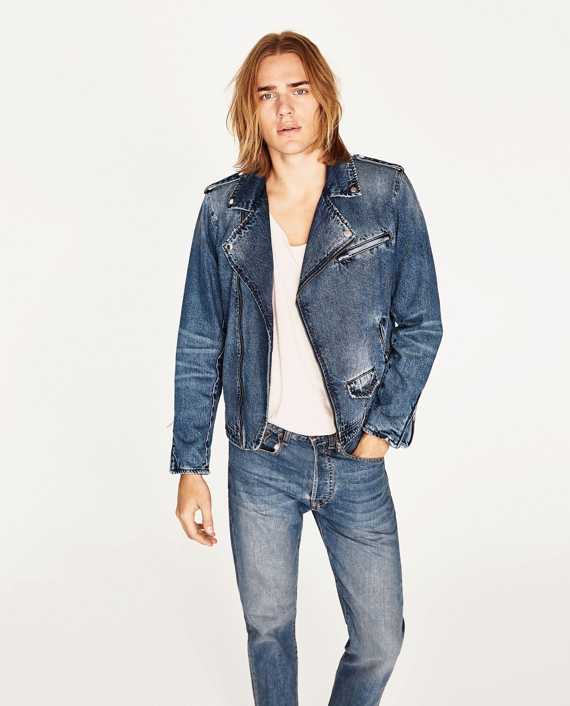 Jaqueta Perfecto Biker Jeans Denim Fashion Denim Biker Jacket Mens Street Style [ 2379 x 1920 Pixel ]