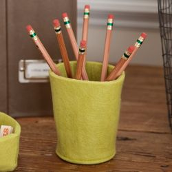 $7.80 on sale felt pencil cup - cheaper than the made in China options and super cute!