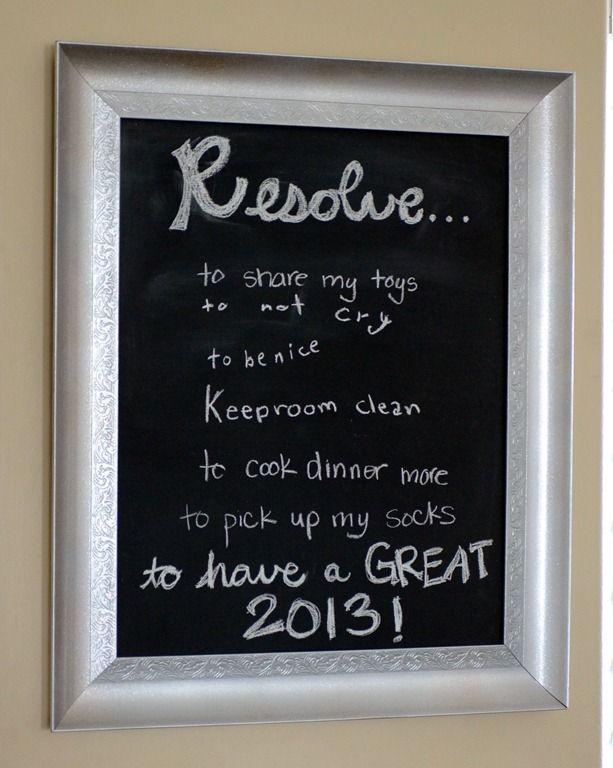 Silver framed chalkboard #LowesCreator @Lowe's  from @Char Coester