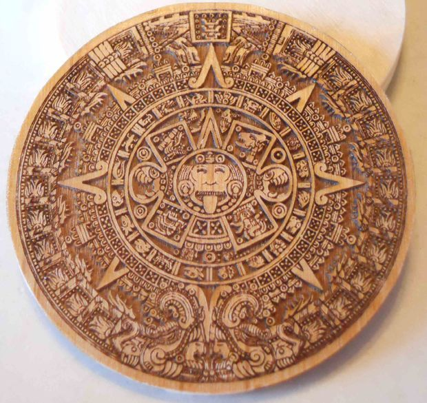 Aztec pewter coin from laser etched template pewter for Laser engraver templates