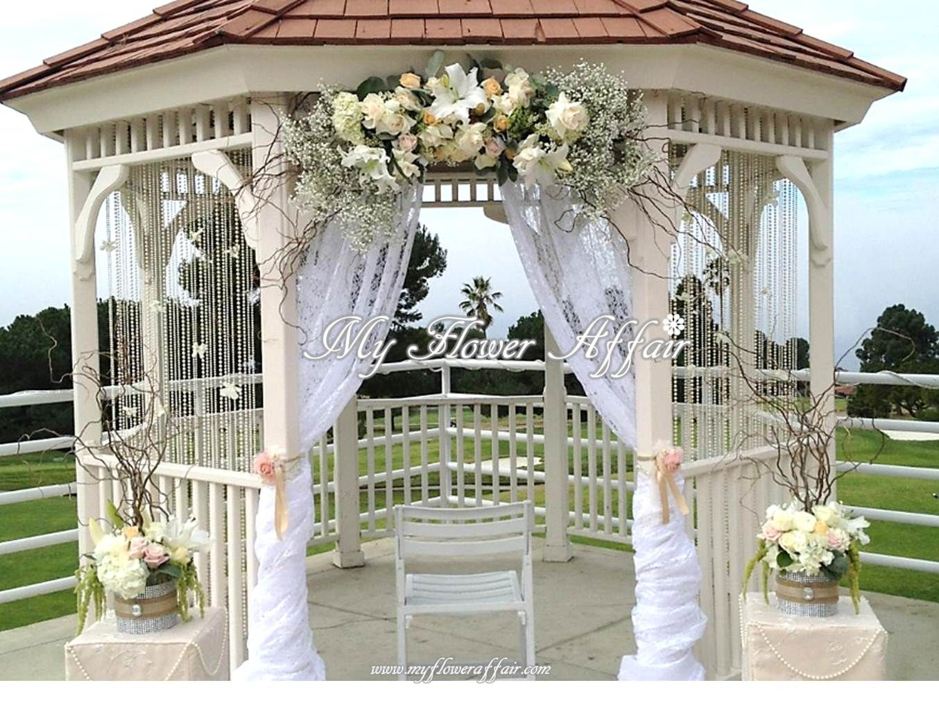 My Flower Affair Wedding Gazebo Flowers Gazebo Wedding