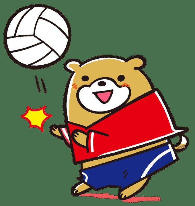 トスを上げるワンちゃん バレーボール イラスト キャラクターデザイン イラスト 可愛い犬