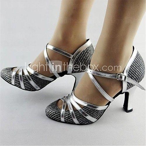 90b2ed97ec31 zapatos de baile de cuero buckie superior de samba de las mujeres de los  altos talones - USD $29.99