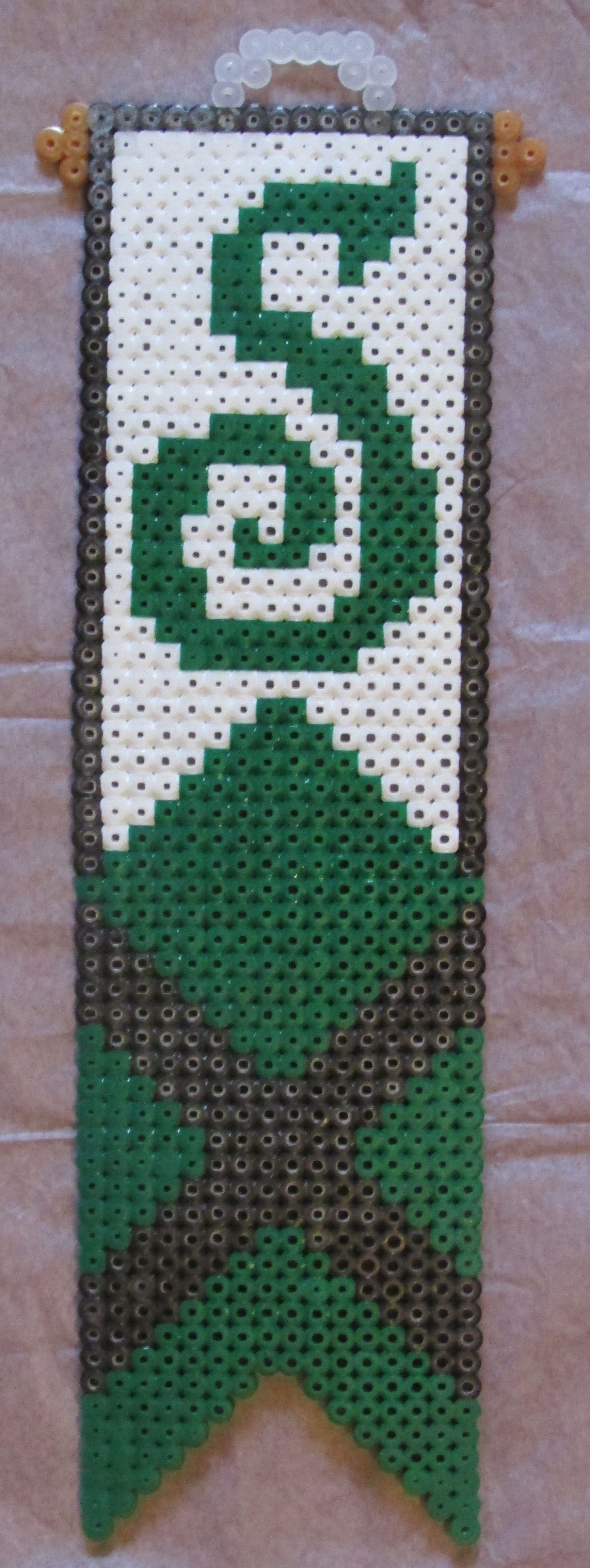 Harry Potter Slytherin Banner Sign hama perler beads by Keely Jade