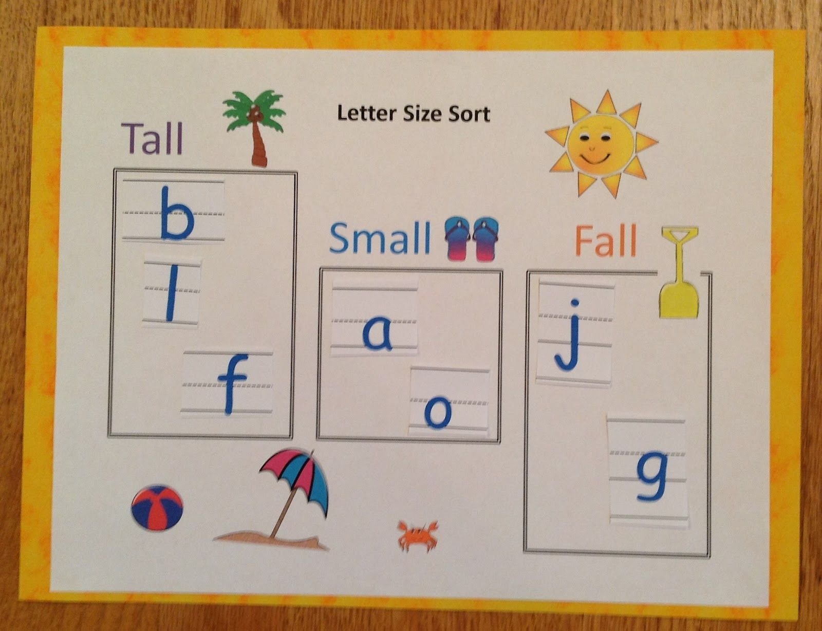 Letter Size Sort 4 Different Letter Sorts To Help