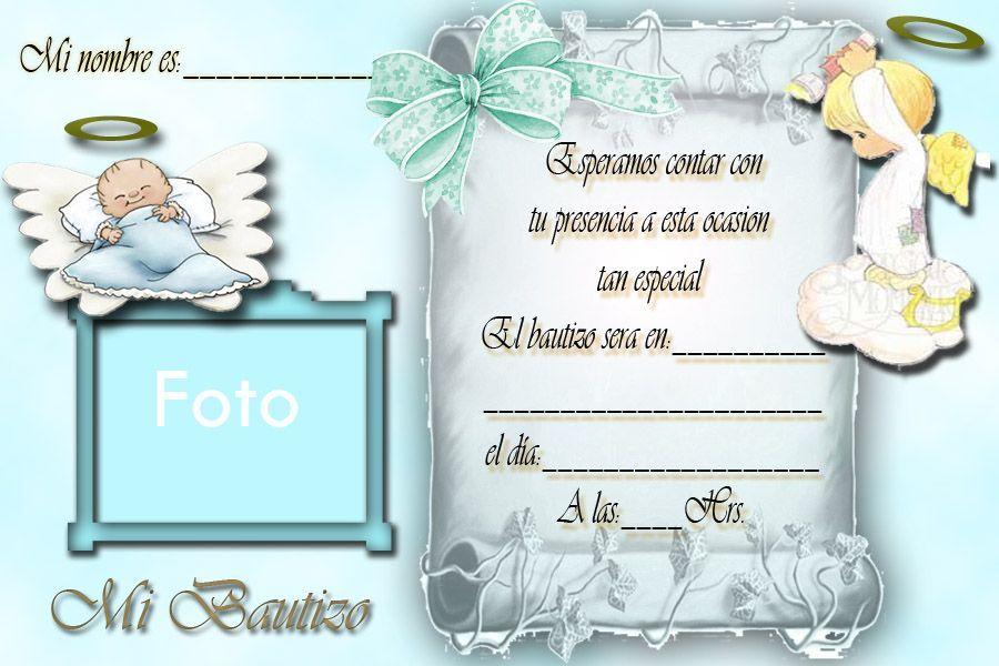 Resultado De Imagen Para Tarjetas De Invitacion De Bautizo
