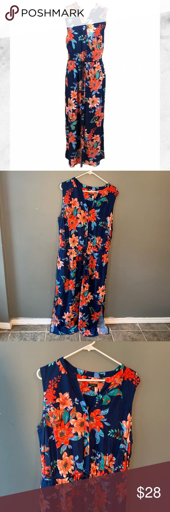 Talbots Sleeveless Button Down Maxi Dress Floral Floral Maxi Dress Maxi Dress Talbots [ 1740 x 580 Pixel ]