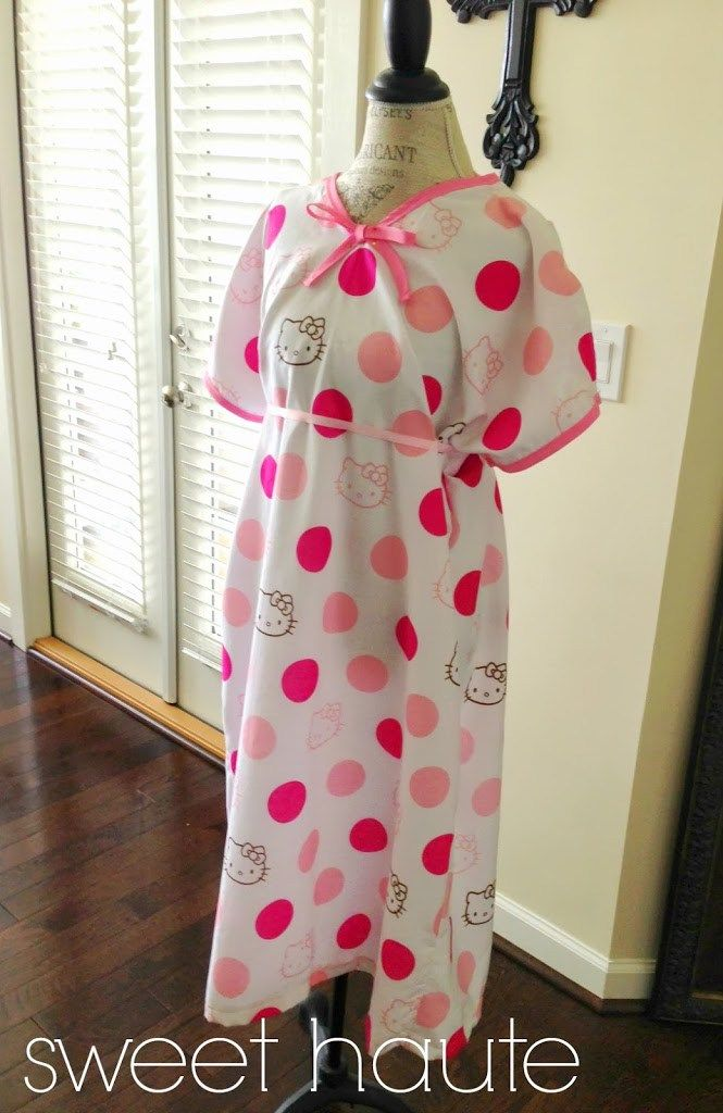 Hospital Gown Pattern +tutorial DIY delivery gown.   Maternity ...
