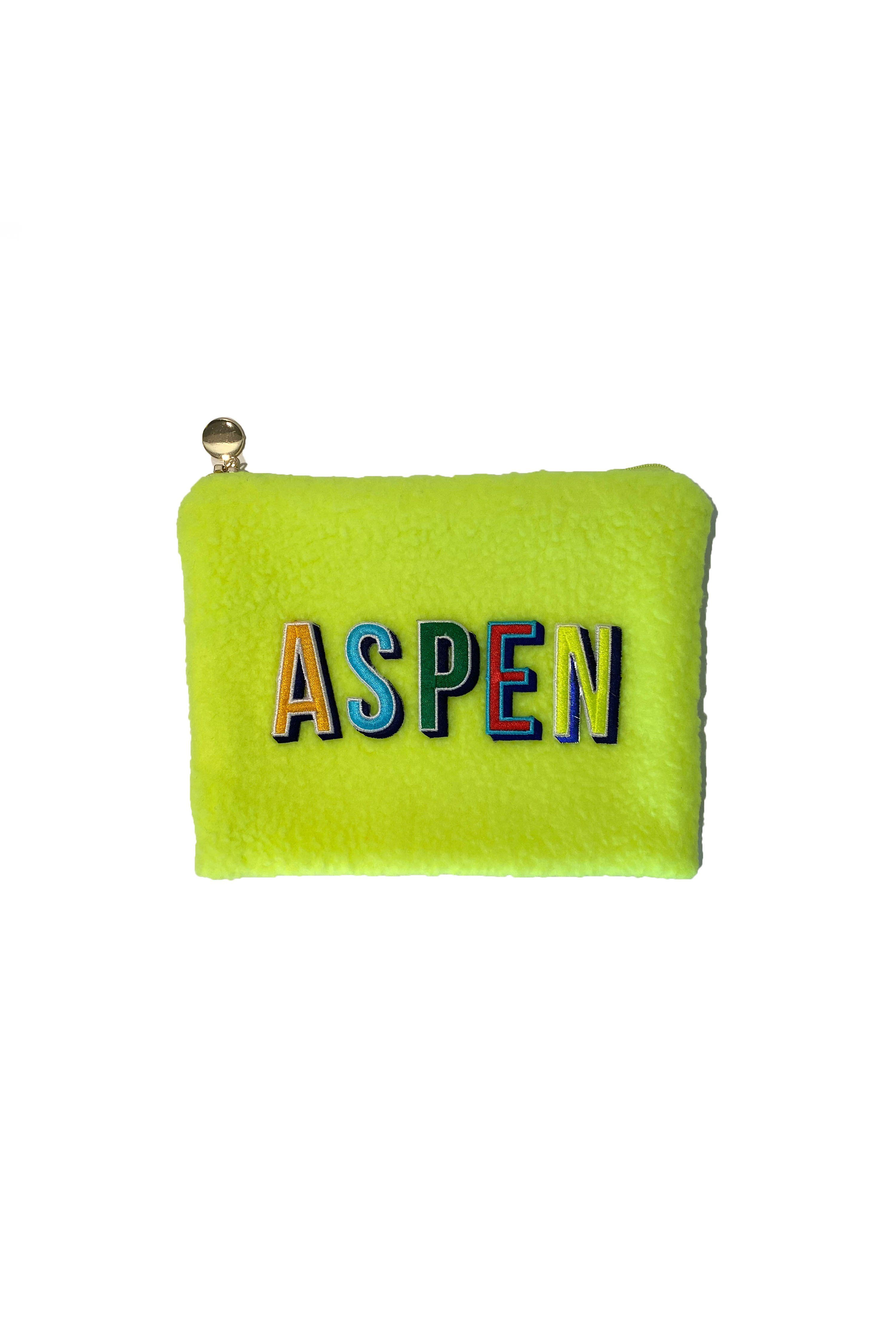 Aspen Make-up Beutel in Gelb