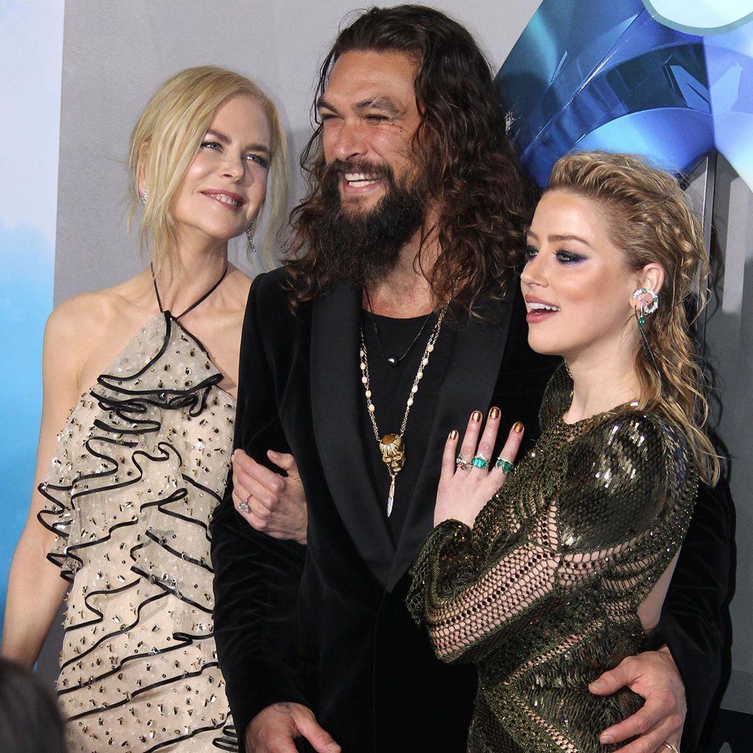 Aquaman Jason Momoa Mera Aquaman S Wifey Amber Heard: Jason Momoa, Nicole Kidman And Amber Heard L.A. Aquaman