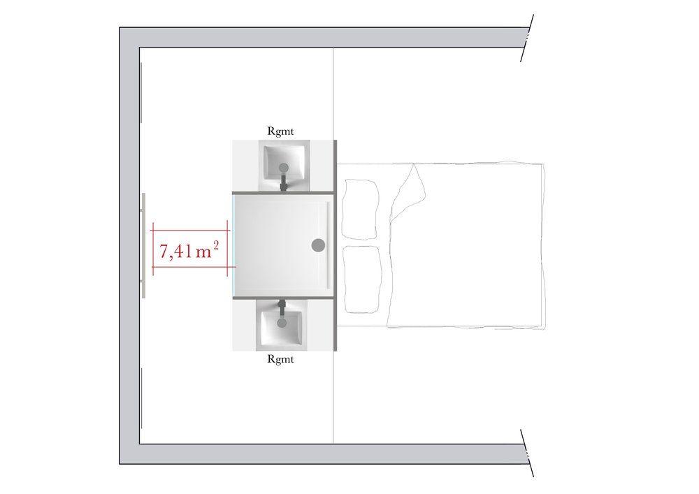 4 plans pour l 39 agencement d 39 une salle de bains rectangulaire chambre pinterest salle. Black Bedroom Furniture Sets. Home Design Ideas