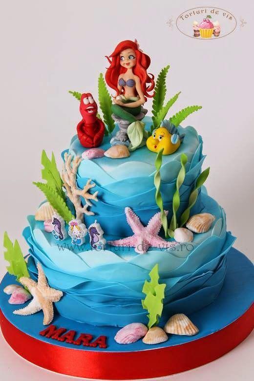 Resultado de imagem para ariel cake bolos decorados Pinterest