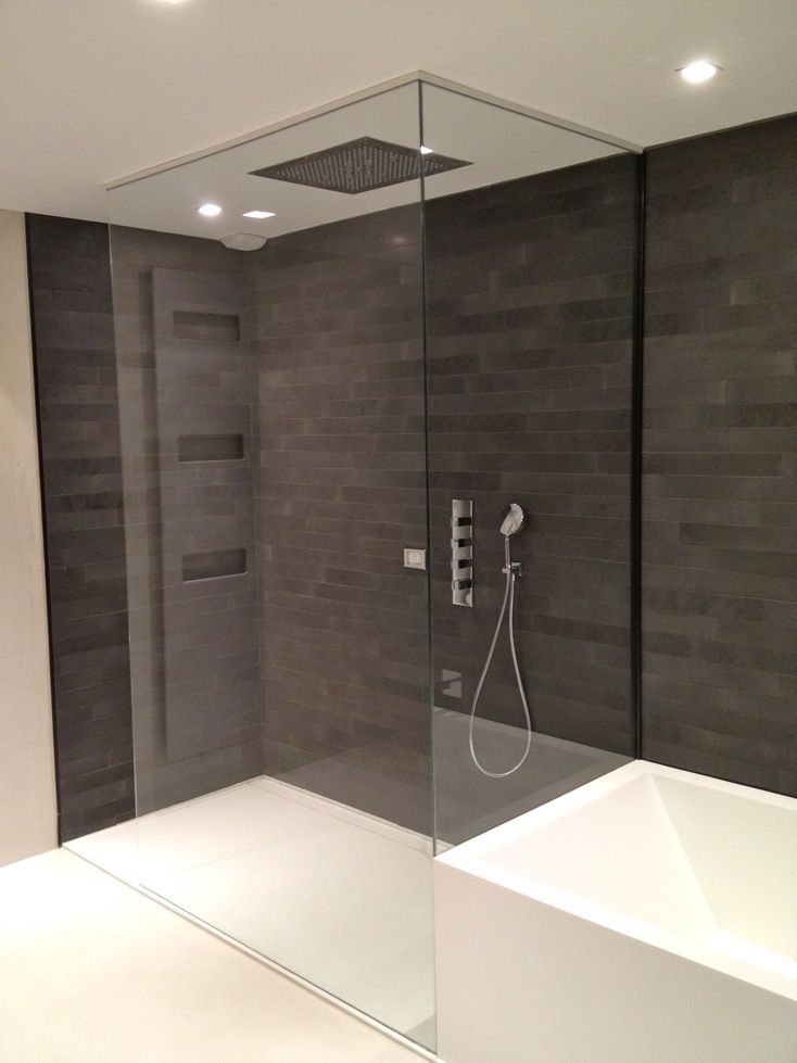 paroi de douche en verre salle de bain pinterest. Black Bedroom Furniture Sets. Home Design Ideas