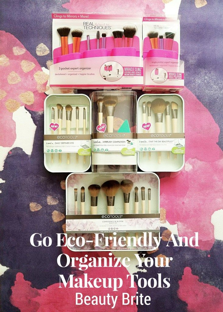 Go Eco-Friendly And Organize Your Makeup Tools #ad #beauty #bblogger #crueltyfree #makeup #brushes #beautyblogger